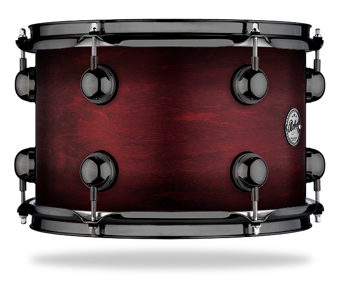 Black Burst over Burgundy - WBS Fade - Hw Black Nickel