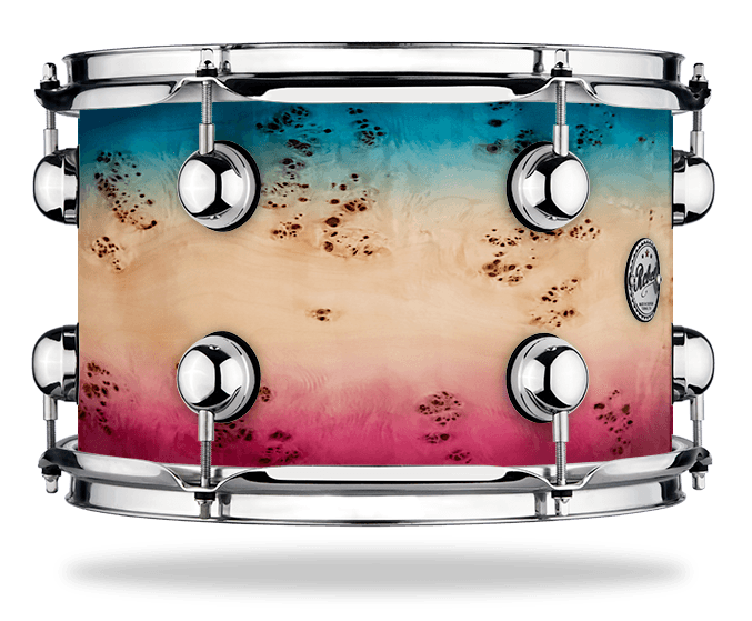 Azure Pink Burst over Mapa Burl - Lacquer - Hw Chrome