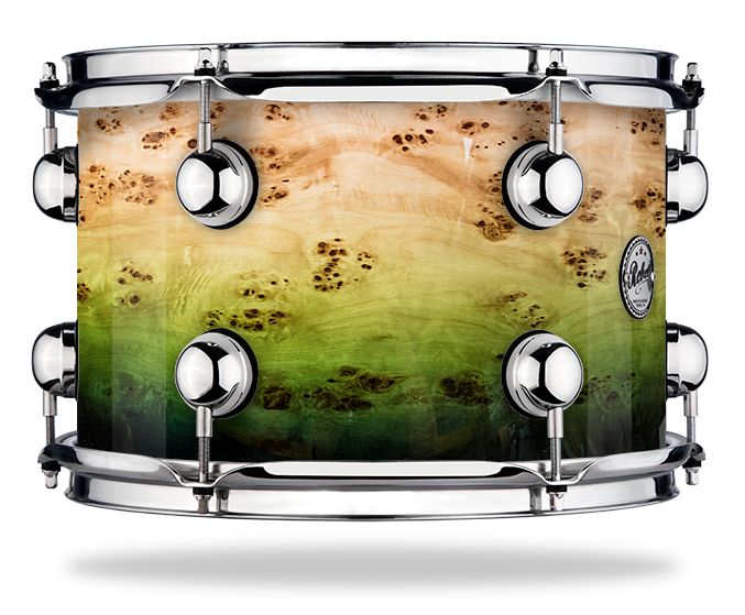 Green Fade over Mapa Burl - Lacquer - Hw Chrome