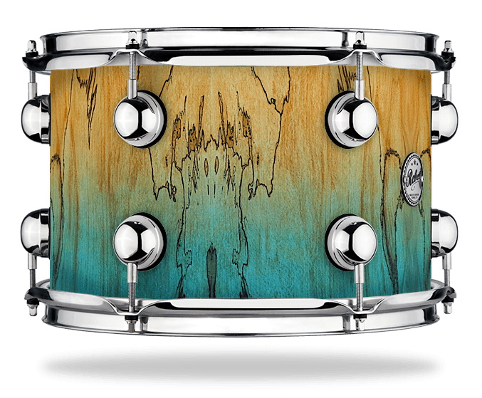 Azure fade over Exotic Fossil Beech - Solid Satin - Hw Chrome