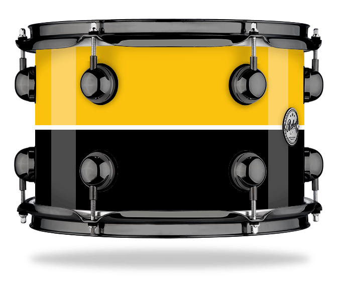 Yellow White Black Stripe - Lacquer - Hw Black Nickel