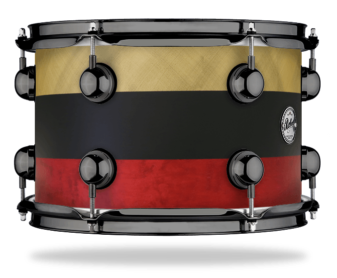 Gold Black Red Stripe - Solid Satin - Hw Black Nickel