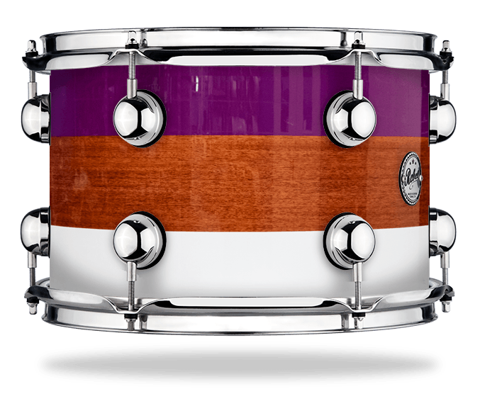 Purple White Stripe over Mahogany - Lacquer - Hw Chrome