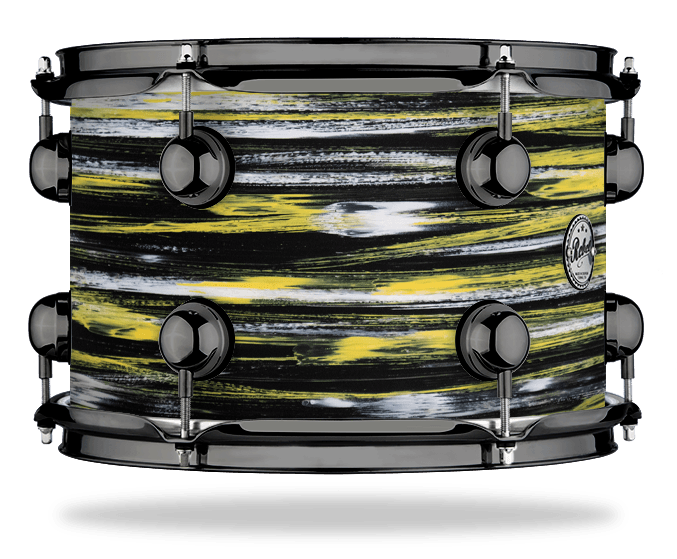 Urban Yellow White over Black - Solid Satin - Hw Black Nickel