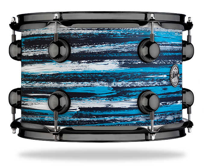 Urban Azure White over Dark Blue - Solid Satin - Hw Black Nickel