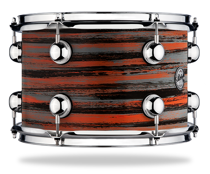 Urban Orange Cool Grey over Black - Solid Satin - Hw Chrome