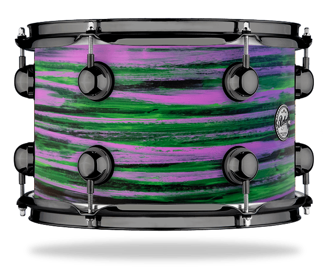 Urban Purple Green over Black - Solid Satin - Hw Black Nickel