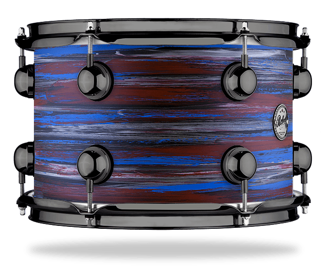 Urban Red Blue over Black - Solid Satin - Hw Black Nickel